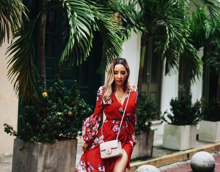 How to make a floral dress super versatile year around