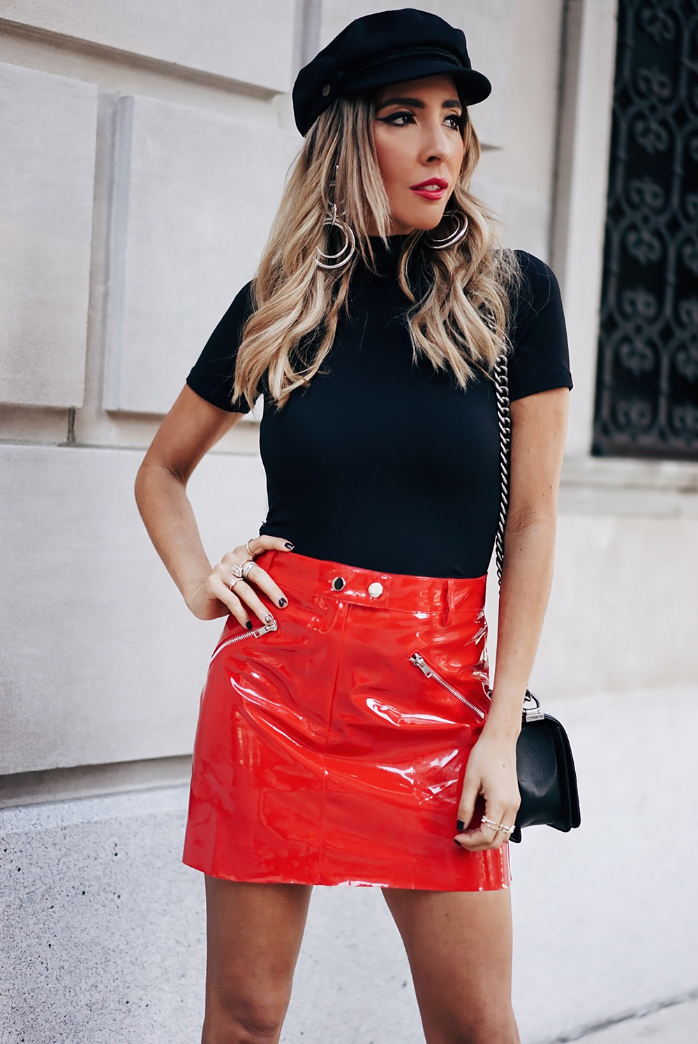 8e31bc1b1c Red Patent Leather Skirt – DACC