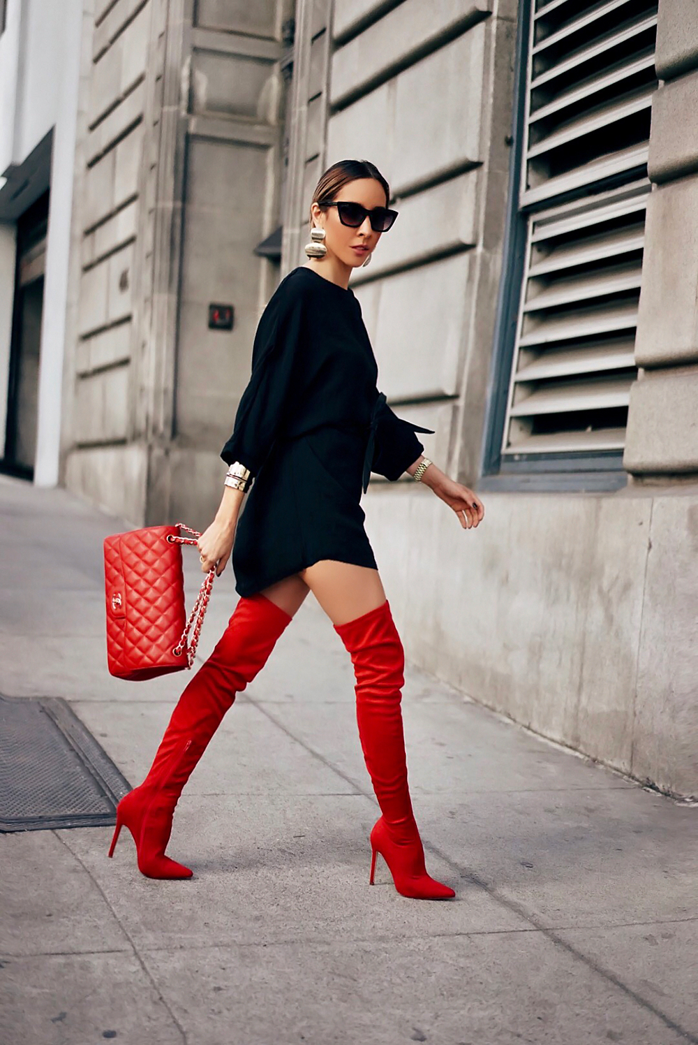 how to wear thigh high boots this fall